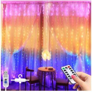 Window Curtain String Lights Waterproofs